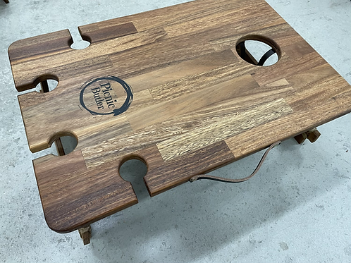 """Spotted Gum """"Vino"""" 4-Wineglass Table"""