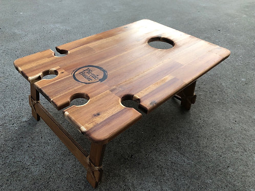 "Acacia ""Vino"" 4-Wineglass Table"