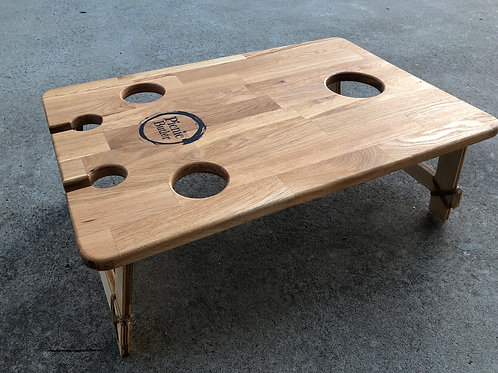 "Oak ""Vino"" 2-Wineglass 2-Beer Table"
