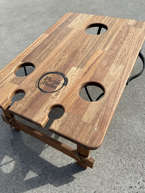 """Spotted Gum""""Vino"""" 2-Wineglass 2-Beer Table"""