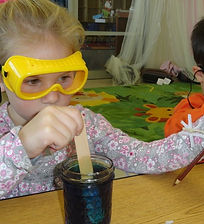 Senior Preschool student learning about science at KC Childcare Center and Preschool