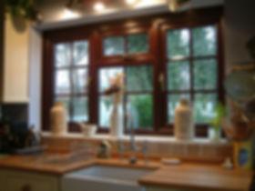 brown uPVC (plastic) standard casement window