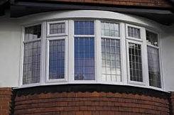 White uPVC (plastic) Bay Bow Window standard casement