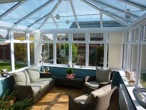 Edwardian white uPVC conservatory