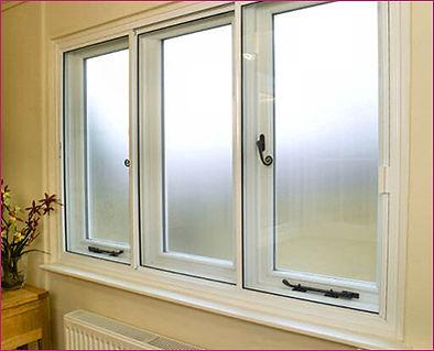 Window with Secondary Glazing Horizontally Sliding Panels