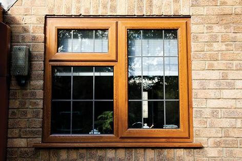 uPVC window standard casement in light oak