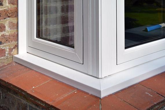 Flush Casement Corner Window in white colour