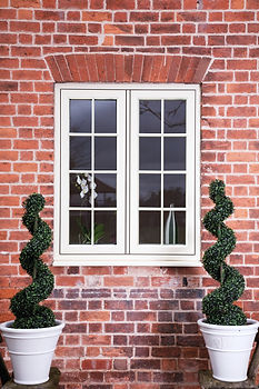 White Flush Casement Window
