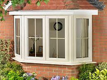 Four section Bay window in cream colour