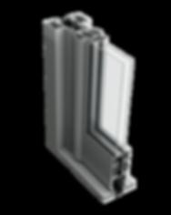aluminium commercial door section