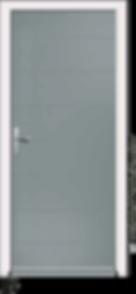 Silver Grey Aluminium entrance door of Vico-V4-Solid style