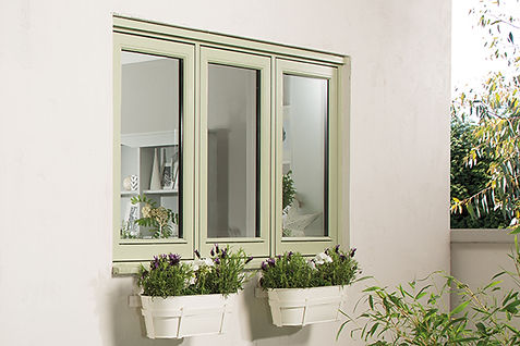 Flush Casement Window in cream colour