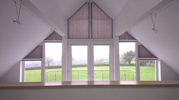 Trianle Shaped white uPVC (plastic) Window
