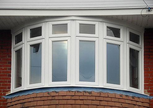 uPVC Bay Bow Window In White