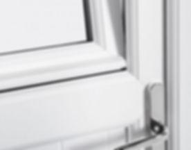 Tilt and turn door with open upper section
