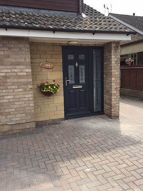 Dark Brown Composite front entrance door