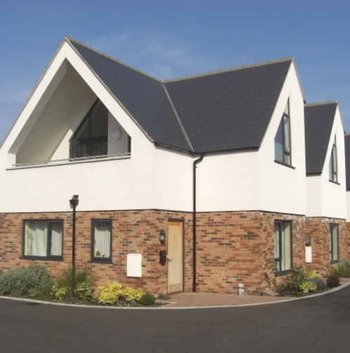 triangle shaped uPVC (plastic) windows in Anthracite Grey Colour