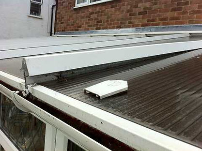 conservatory rafter and polycarbonate sheet repair