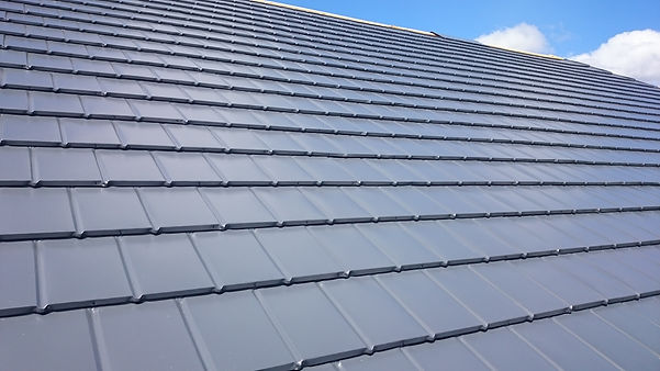 Solid Roof Equinox Tiled system in grey colour