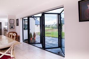 five-section aluminium bi-fold doors