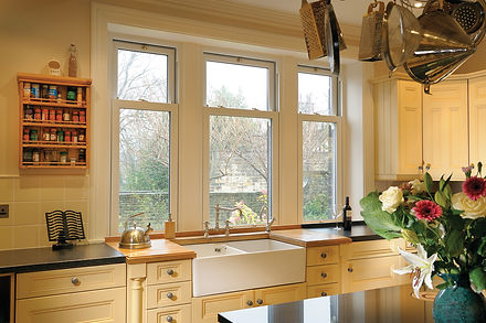 Vertical Sliding Sash Window in the kitchen inside view