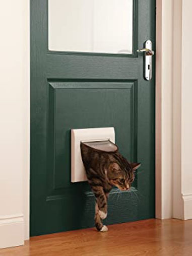 Cat flap installed