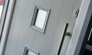 Light Grey Composite Front Door