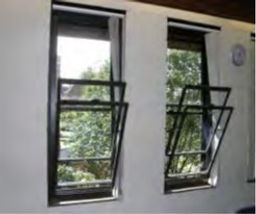 uPVC Windows in Dark Brown with Tilted Secondary Glazed panel