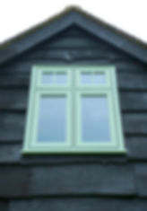 Flush casement window in Chartwell Green Colour