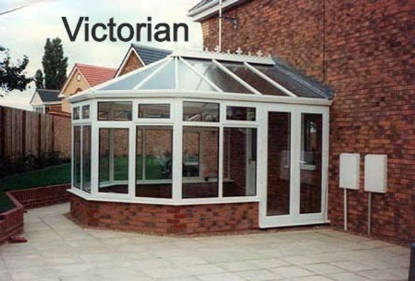 Victorian uPVC Conservatory in White Colour