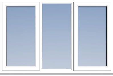 uPVC window with Equal Glass Widths