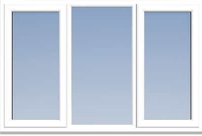 uPVC window with Equal Mullion Widths