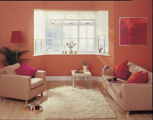 White uPVC (plastic) Bay Window in a living room