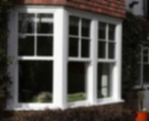 White uPVC (plastic) vertical sliding sash window