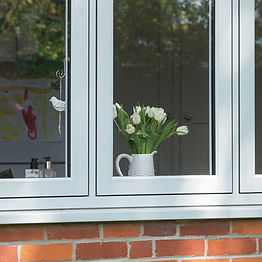Residence 7 Collection Flush Casement uPVC (plastic) window in white colour