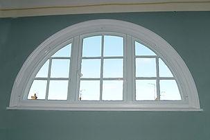 Semi-Circular Shaped White uPVC (plastic) Window