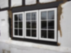 uPVC window cottage style in white