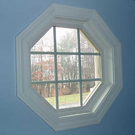 Octagonal Shaped uPVC (plastic) Window in white colour
