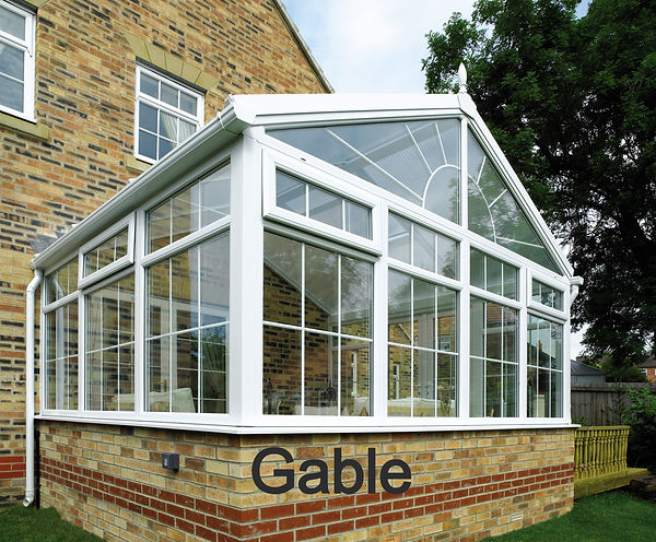 Gable uPVC Conservatory in White Colour