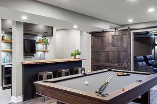 Award winning basement with home cinema and bar