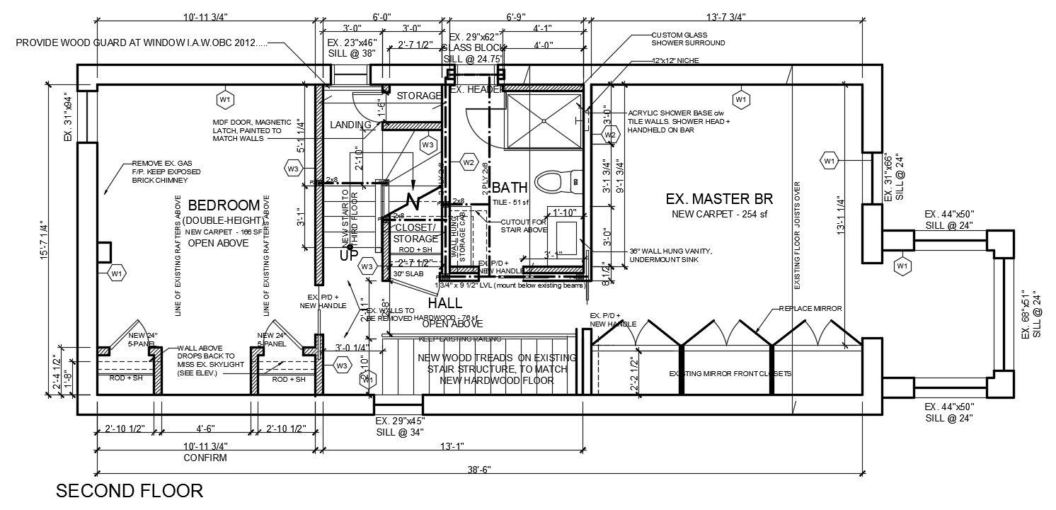 117 Waverly - second floor plan