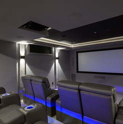 Just Basements - Home Theatre with Bar
