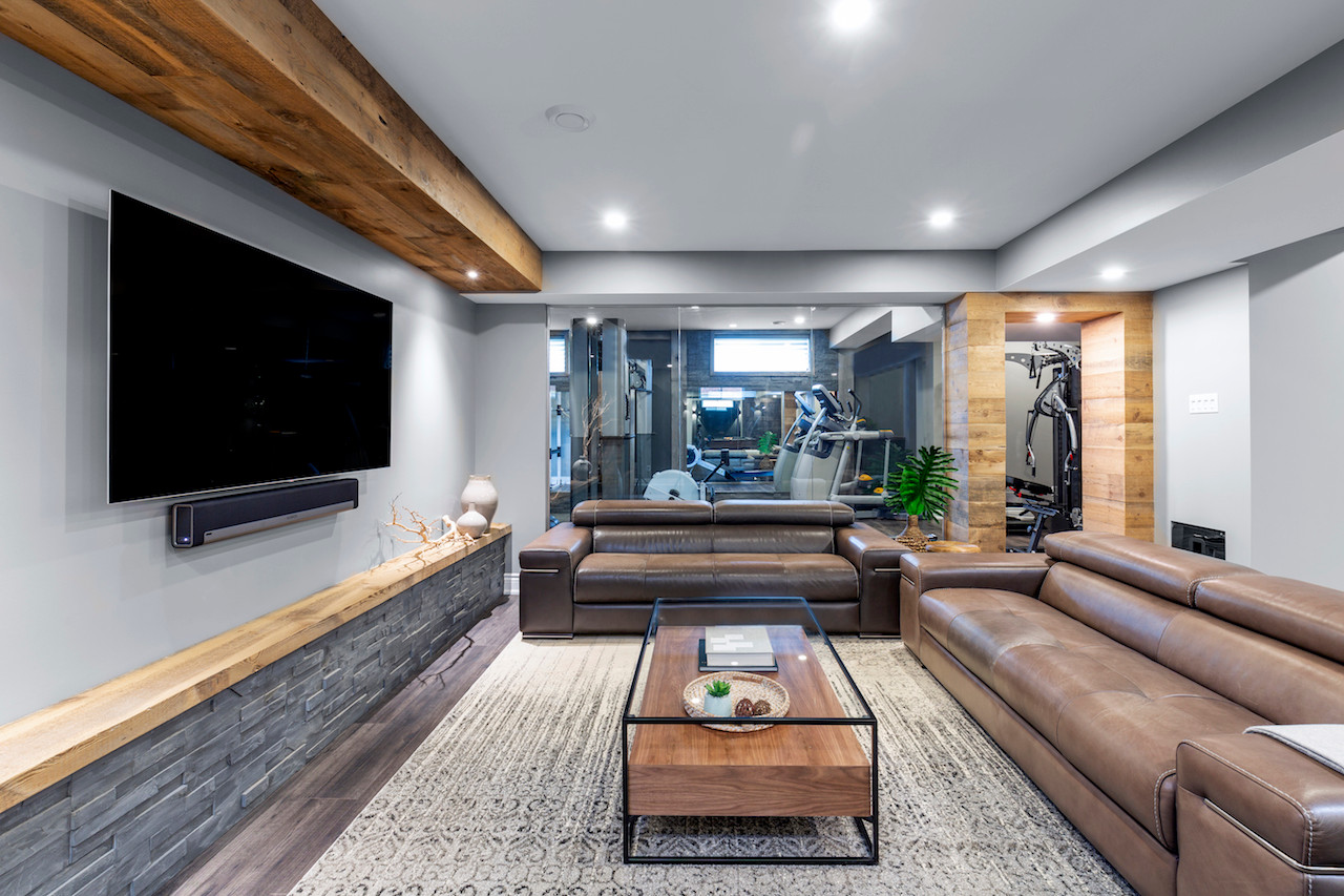 Epic Entertaining Family Room & Gym