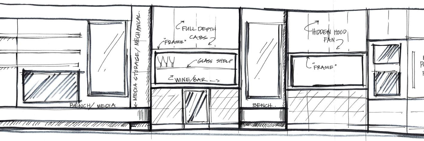 Hand sketch by ARTium Design Build