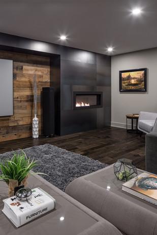 Steel Fireplace Facade