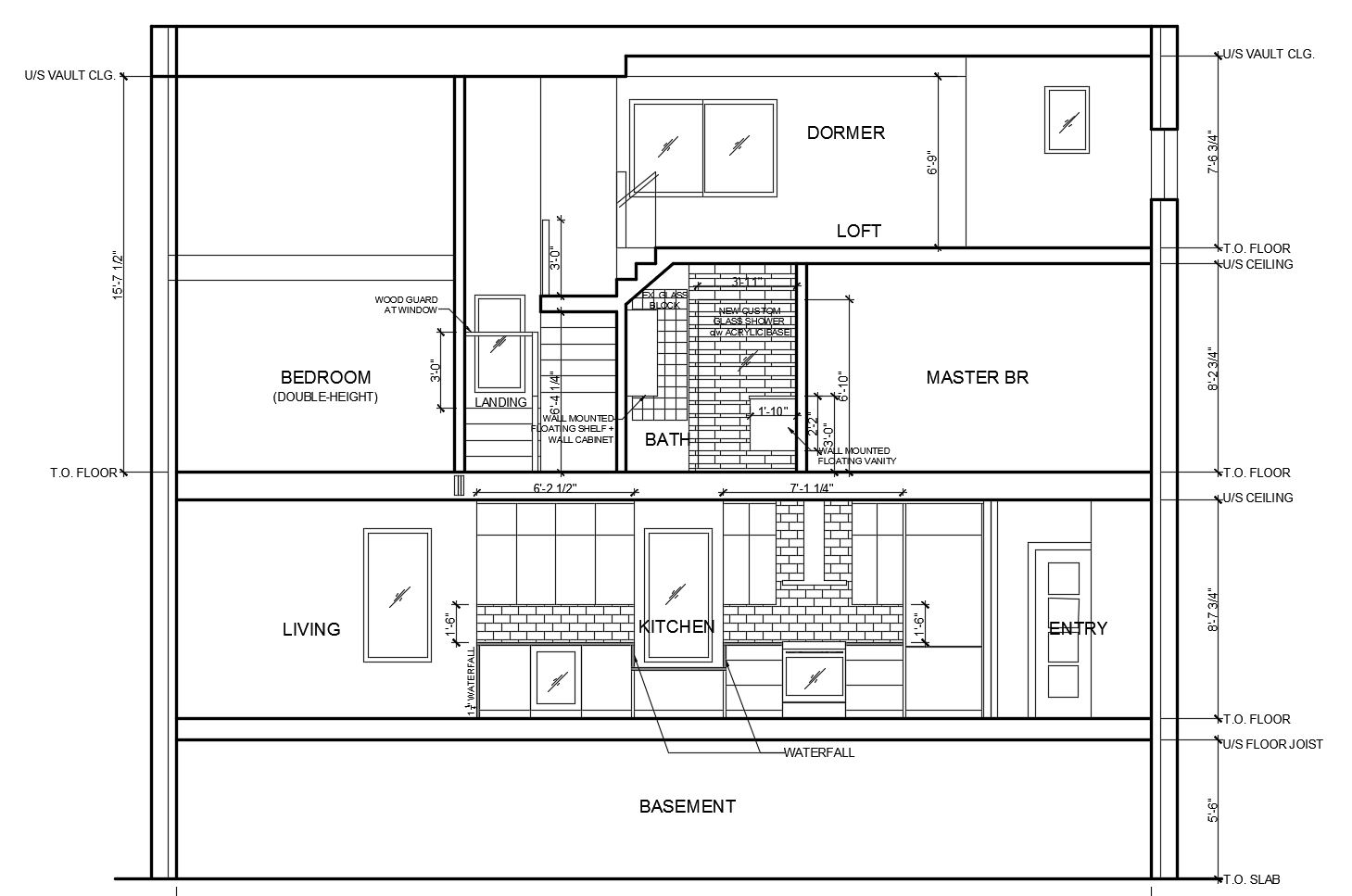 117 Waverly - Building Section