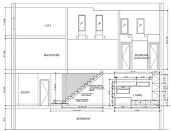 117 Waverly - Building Section - stair