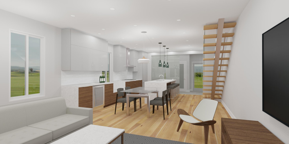 Main Floor Interior Render by ARTium Design Build