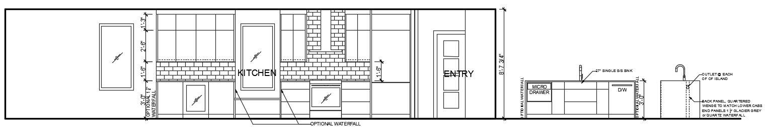 117 Waverly - Kitchen Elevations