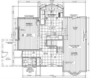 ARTium Design Build project drawings in house design build